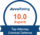 Avvo Rating Top Attorney Criminal Defense